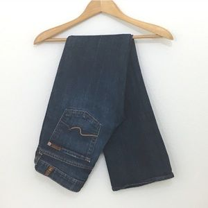 7 for all Mankind boot cut dark blue jeans 27